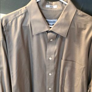 Men's Tan Dress Shirt